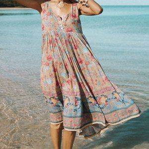 Spell & The Gypsy Collective Dresses - 🆕 Spell Opal Seashell Babydoll Midi Dress